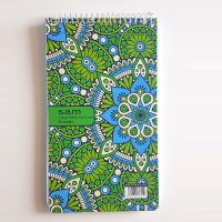 دفترچه یادداشت خبر نگاری 80 برگ سیمی سم