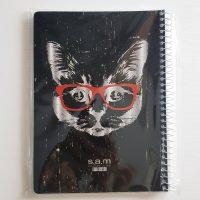 دفتر مشق۸۰ برگ سم طرح گربه عینکی