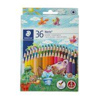 مداد رنگی 36 رنگ نوریس جعبه مقوایی استدلر
