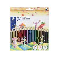 مداد رنگی 24 رنگ نوریس مدل وپکس جعبه مقوایی استدلر