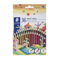 مداد رنگی 36 رنگ نوریس مدل وپکس جعبه مقوایی استدلر