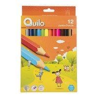مداد رنگی 12 رنگ جامبو جعبه مقوایی کوئیلو