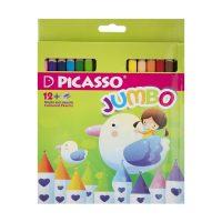 مداد رنگی ۱۲ رنگ جانبو جعبه مقوایی پیکاسو