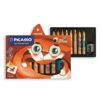 مداد رنگی 8 رنگ سوپر جانبو به همراه تراش