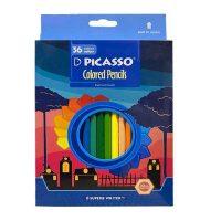 مداد رنگی 36 رنگ جعبه مقوایی پیکاسو