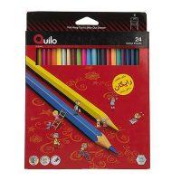 مداد رنگی 24 رنگ جعبه مقوایی کوئیلو