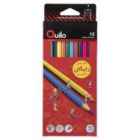 مداد رنگی ۱۲ رنگ جعبه مقوایی کوئیلو