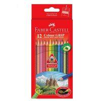 مداد رنگی 12 رنگ گریپ جعبه مقوایی فابرکاستل