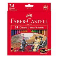 مداد رنگی 24 رنگ جعبه مقوایی فابرکاستل
