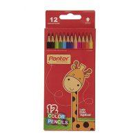 مداد رنگی ۱۲ رنگ جعبه مقوایی پنتر