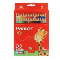 مداد رنگی 36 رنگ جعبه مقوایی پنتر