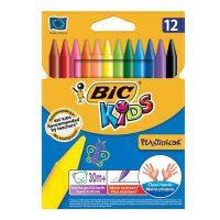 مداد شمعی 12 رنگ بیک پلاستی دکور