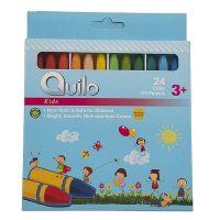 پاستل روغنی 24 رنگ جعبه مقوایی کوئیلو