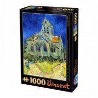 پازل ۱۰۰۰ تکه کلیسای اوور اثر ونسان ون گوگ DToys