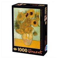 پازل ۱۰۰۰ تکه گلهای آفتابگردان اثر ونسان ون گوگ DToys