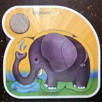 پازل کودک چوبی سه تکه فیل