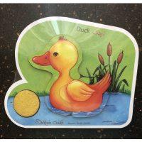 پازل کودک چوبی دوتکه اردک
