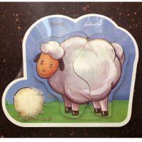 پازل کودک چوبی دوتکه گوسفند